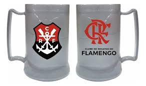 Caneca Com Gel Prata Brasão Flamengo - Cebola