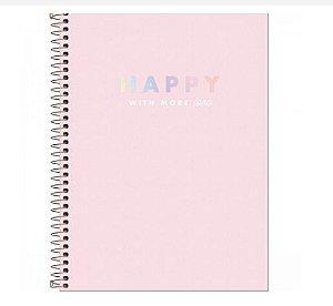 Caderno Universitário Happy 12 Matérias - Tilibra