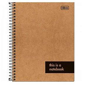Caderno Colegial Kraft Work 1 Matéria - Tilibra