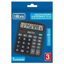Calculadora de  Mesa  Eletrônica Tc19 Preta - Tilibra