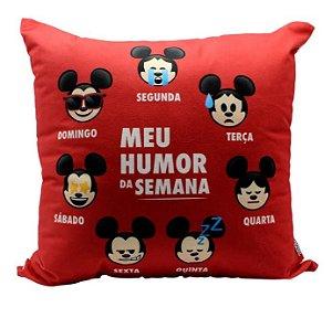 Almofada Veludo Mickey Humor Da Semana - Zona Criativa