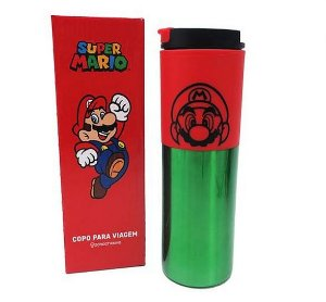 Copo Viagem Super Mario - Zona Criativa
