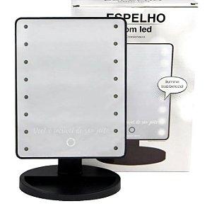 Espelho C/ Led Preto - Zona Criativa