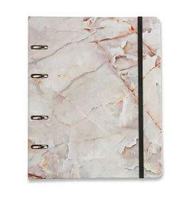 Caderno Criativo Mármore Branco - Cícero