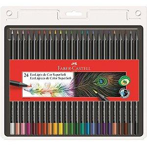 Lápis De Cor Supersoft 24 Cores - Faber-Castell