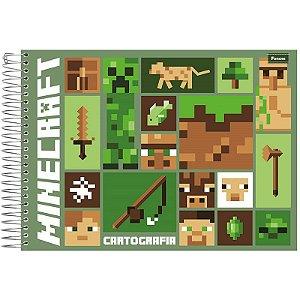 Caderno Cartografia Minecraft 96fls - Foroni