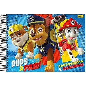 Caderno Cartografia Patrulha Canina Feminino 96 Fls - Foroni