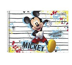 Caderno Espiral Cartografia Mickey 80 Folhas- Tilibra