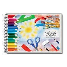 Caderno de Desenho e Cartografia Brochura 96 fls - Pauta branca