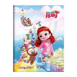 Caderno Caligrafia Rainbow Ruby 40fls - Foroni