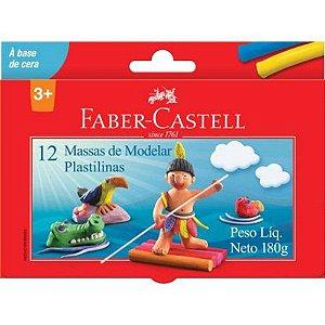 Massinha De Modelar Base Cera 12 Cores - Faber-Castell