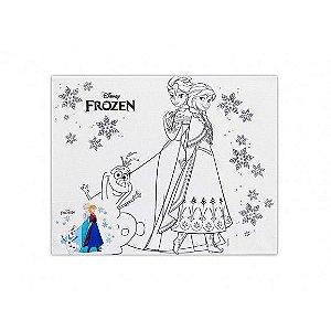 Tela P/ Pintura Lic Disney 25x20 Un Frozen - Vmp
