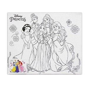 Tela Para Pintura 30x25 Princesas - VMP