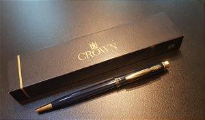 Caneta Esferográfica Champion Azul -Crown