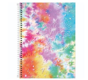 Caderno Universitário Good Vibe  10 Matérias - Tilibra