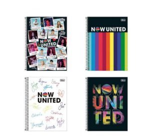 Caderno Universitário 10 Matérias 160 Folhas Now United - Tilibra