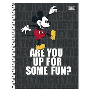 Caderno Universitário Mickey 10 Matérias - Tilibra