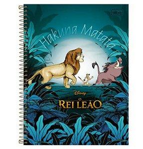 Caderno Universitário Rei Leão 10 Matérias - Tilibra