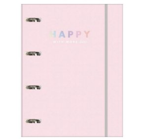 Caderno Argolado Cartonado Happy Com Elástico - Tilibra