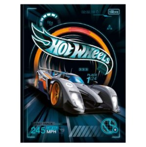 Caderno Universitário Brochura Hot Wheels 80 Folhas - Tilibra
