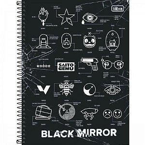 Caderno Universitário Black Mirror 16 Matérias - Tilibra