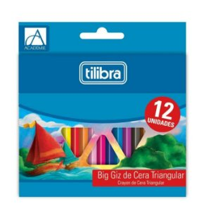Big Giz De Cera Triangular 12 Cores - Tilibra