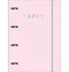 Caderno Argolado Cartonado Elástico Happy - Tilibra