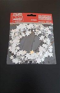 Fio Aramado Metalizado Estrela Prata-Cromus