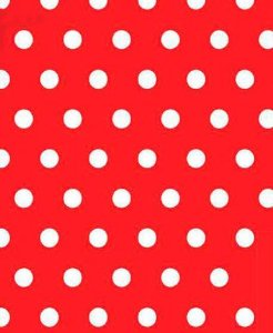Colorset Vermelho Com Bolinhas Brancas 48x66 - VMP
