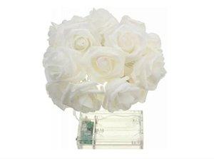 Varal Led Flores Brancas Com 10 Flores - VMP