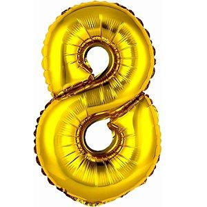 Balão Metalizado Ouro N° 7 - VMP