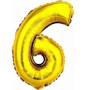 Balão Metalizado Ouro N° 6 - VMP