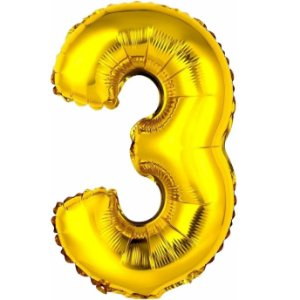 Balão Metalizado Ouro N° 3 - VMP