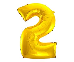 Balão Metalizado Ouro N° 2 - VMP