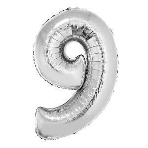 Balão Metalizado Prata N° 9 - VMP