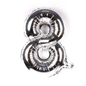 Balão Metalizado Prata N° 8 - VMP