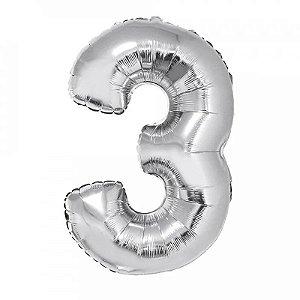 Balão Metalizado Prata N° 3 - VMP