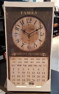 Relógio C/ Calendário Retro Vertical - VMP