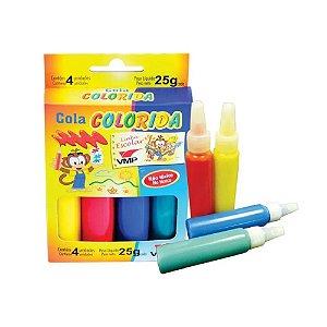 Cola Colorida 4 Cores Sortidas - VMP