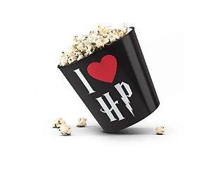 Balde de Pipoca I Love HP Preto - Beek