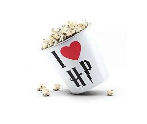 Balde de Pipoca I Love HP Branco - Beek