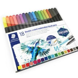 Caneta  Brush Pen Double Ended Watercolour 18 cores  - Staedtler