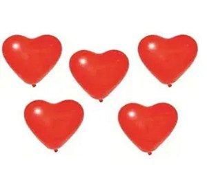 Balão Sortidos Liso Coração Vermelho N° 11 - São Roque