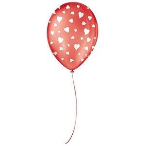 Balão Sortidos Vermelho Coração N° 9 - São Roque
