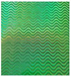 Papel Holográfico Verde A4 120g - Off Paper