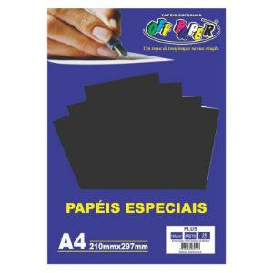 Papel Plus Preto A4 180g - Off Paper
