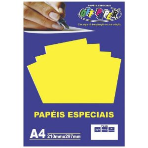 Papel Plus Amarelo A4 180g - Off Paper
