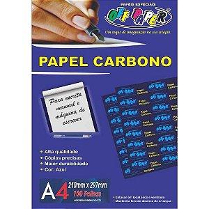 Papel Carbono Azul A4 100 Folhas - Off Paper