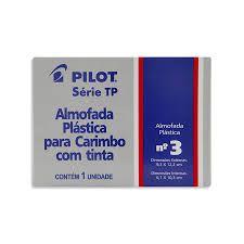 Almofada De Carimbo N°3 TP Preta - Pilot