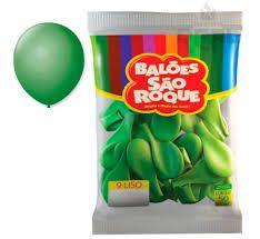 Balão 9 Liso C/50 Verde Bandeira